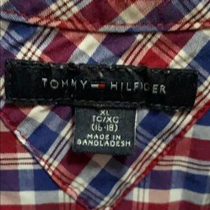 Red White and Blue Tommy Hilfiger dress shirt XL